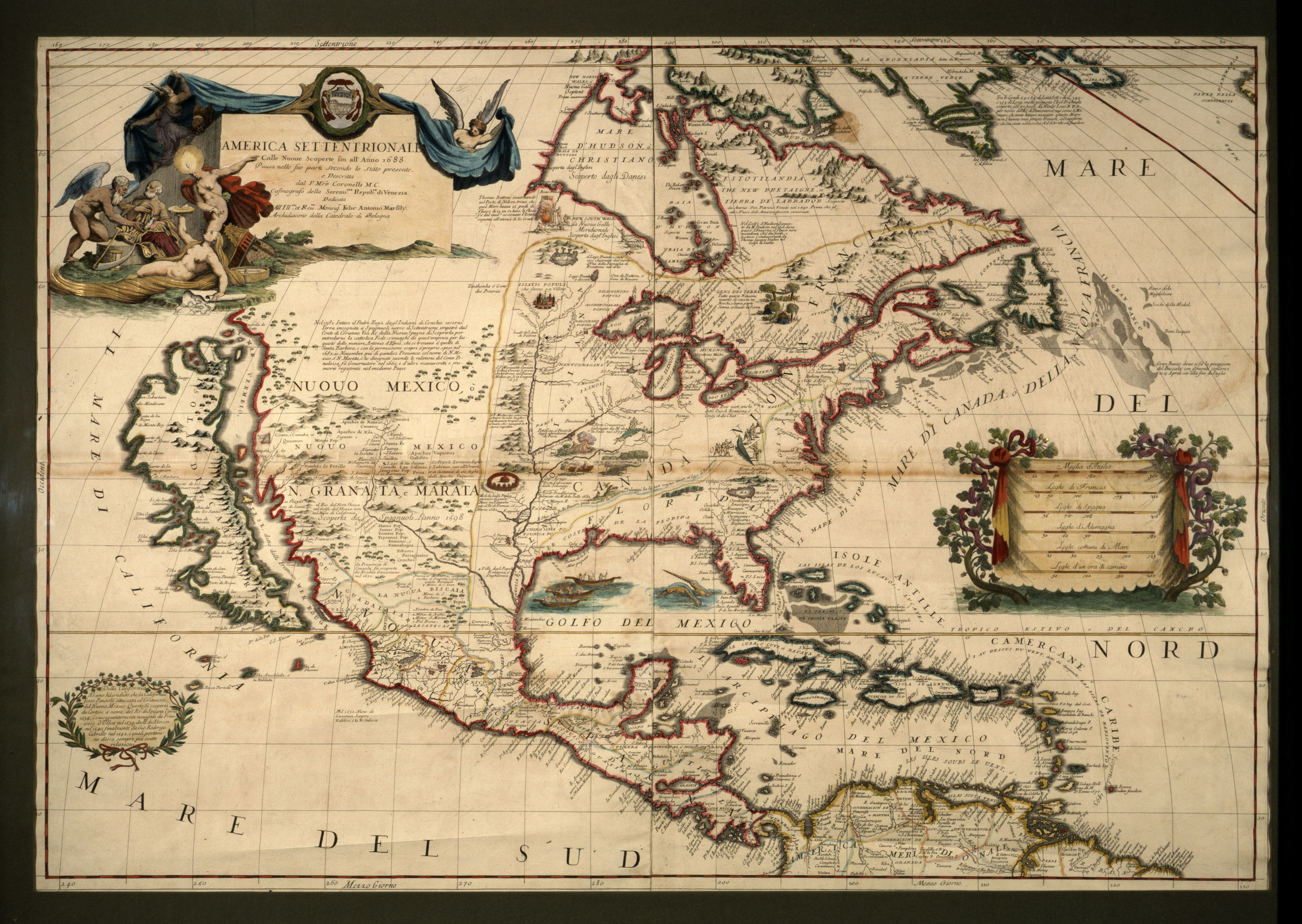 America Setentrionale  Map Of The North America Picture This - Early maps of america